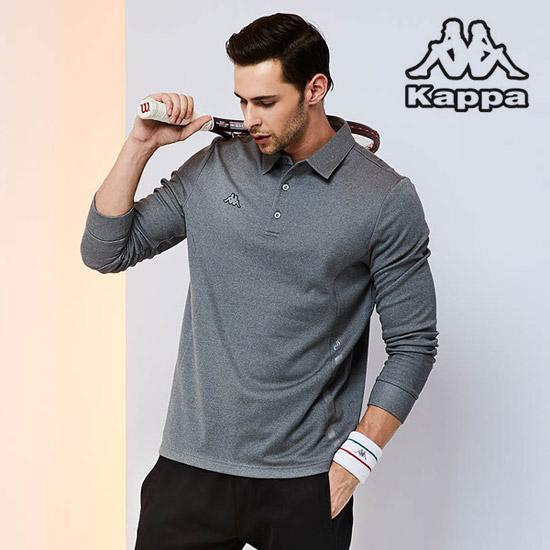 [카파]남성 기모 골프카라티셔츠 멜란지그레이