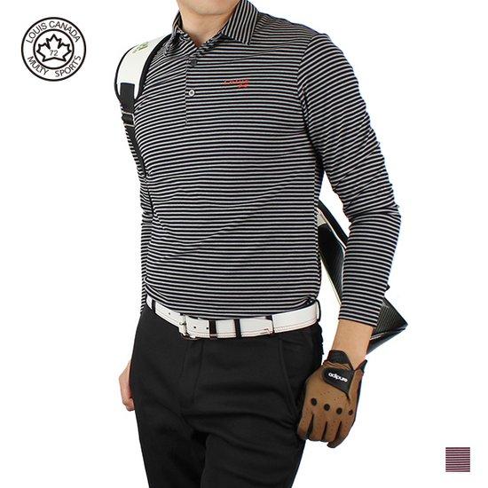 루이스 골프웨어 남성 겨울 양면기모 코트사 골프티셔츠