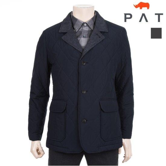 [PAT] 남성 헤링본 배색 퀼팅 패딩 자켓 1B71206