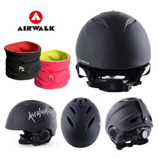 에어워크 매트 스키/스노우보드 헬멧 검정/넥워머증정