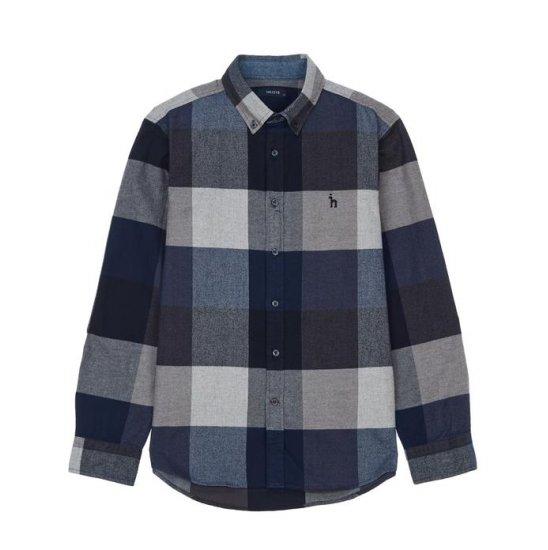 헤지스남성 WHSH7D001N2 버튼다운 면 긴팔캐주얼셔츠