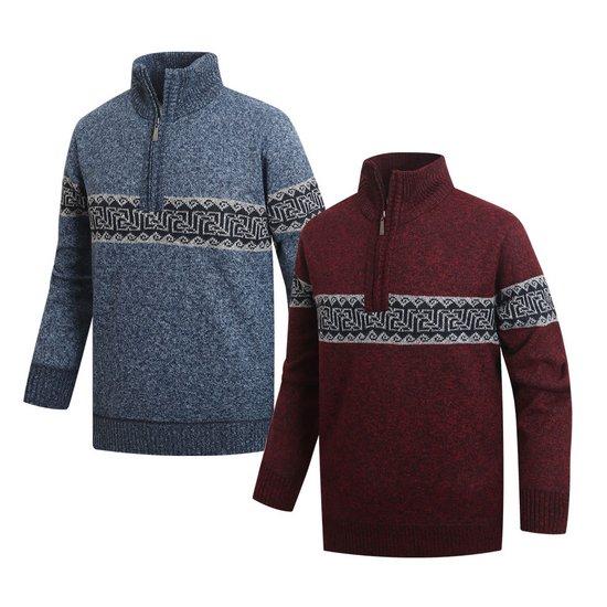 남성 골프웨어 기모반집업 긴팔티셔츠 스웨터 CLLT055