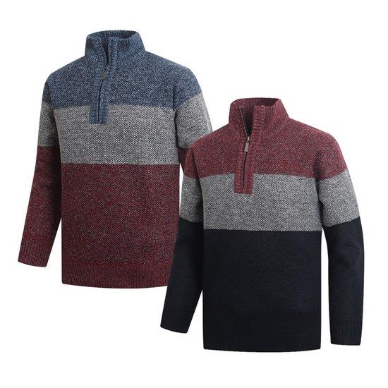 남성 골프웨어 기모반집업 긴팔티셔츠 스웨터 CLLT054