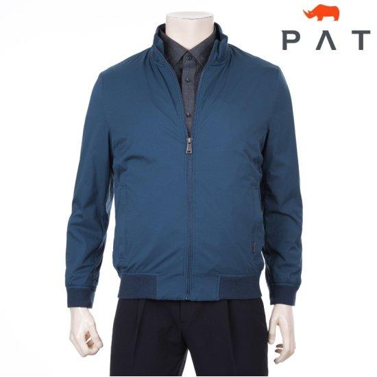 [PAT] 남성 레이어 패브릭 슬림 핏 집업 점퍼 1C51303