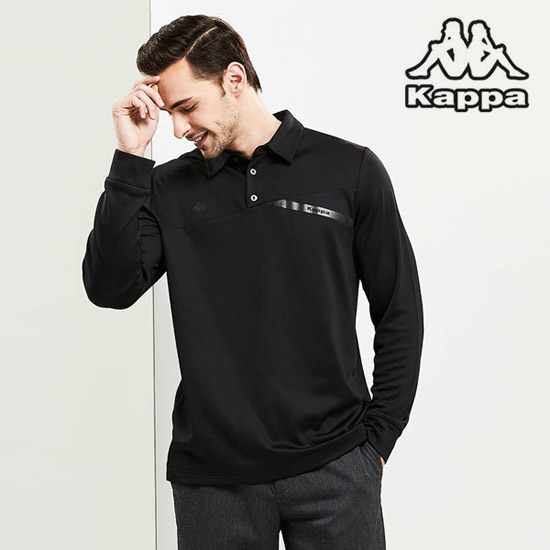 [카파]남성 기모 골프카라티셔츠 블랙