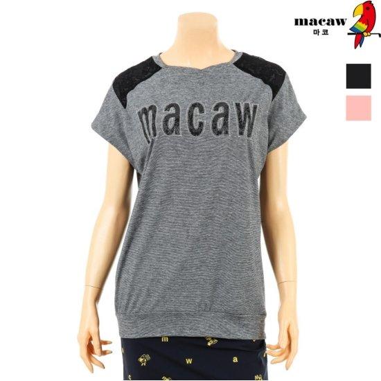 [MACAW] 여성 레터링 프린팅 티셔츠 4MFW2TR04
