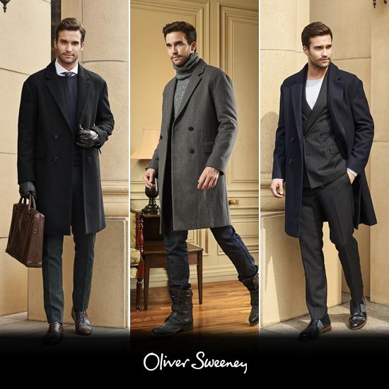 [오플]올리버스위니 남성 브리티시 모던 울블렌딩 코트