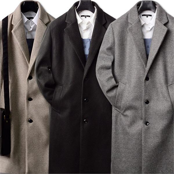 [하프클럽/INTERFACE]루즈핏 라벤다 기본 남성 코트 클래식 ..