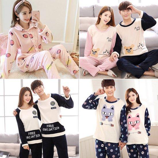 [민트코코아] 남성 여성 겨울 수면잠옷 밍크세트 8종택1