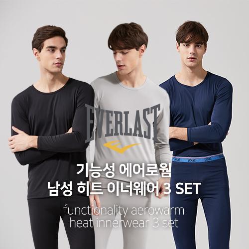 [오플]에버라스트 남성 히트 이너웨어 3세트