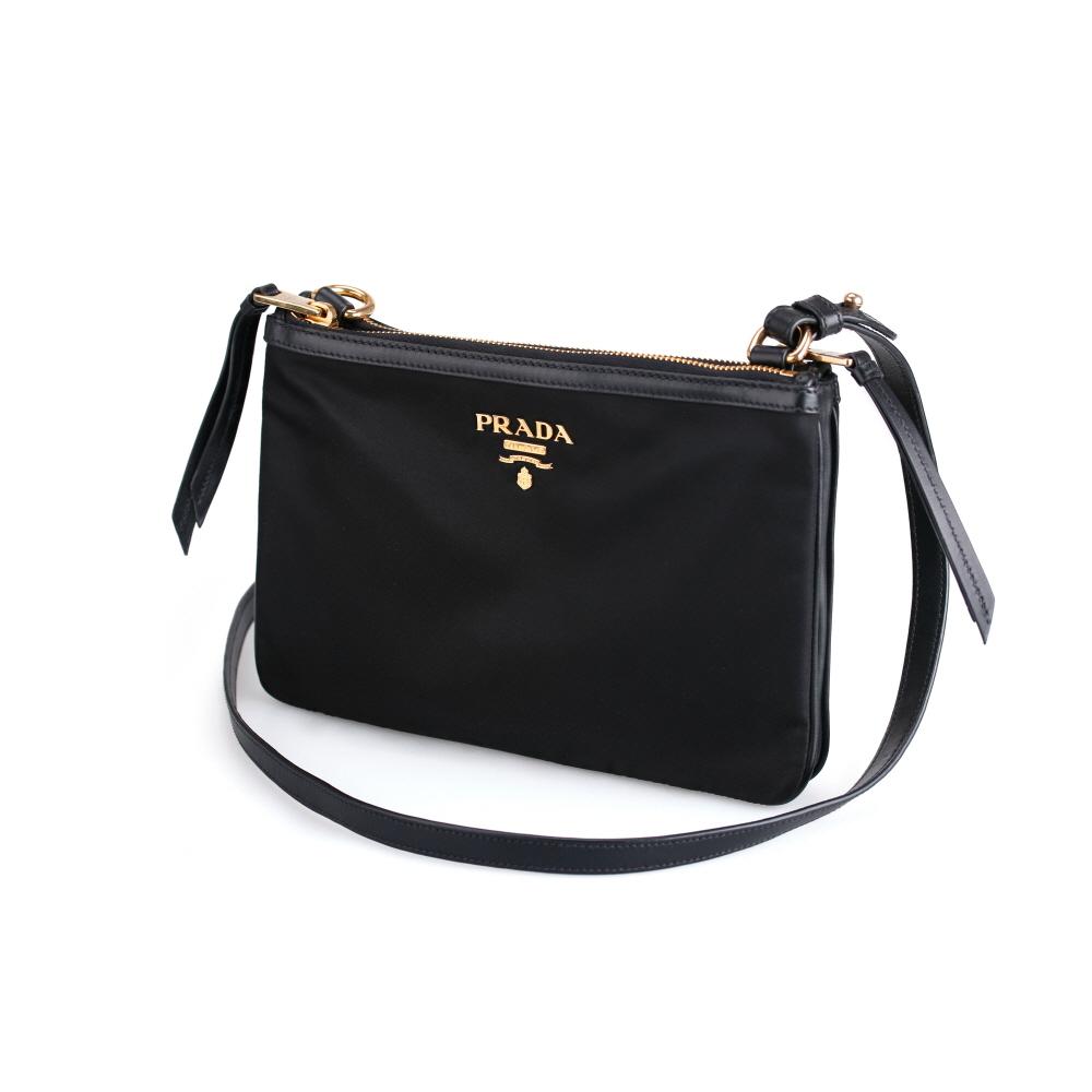 프라다 여자 가방 1BH046 TESSUTO NERO 테수토 포코노 숄더백 크로스백 블랙