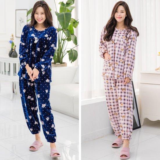 최고급 밍크 수면잠옷 여자 상하세트 5종 택1