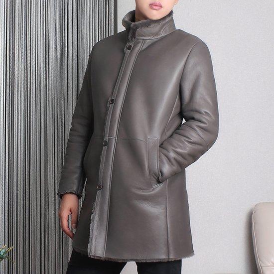 [더라] 남자 리얼 메리노 무스탕 차이나 코트