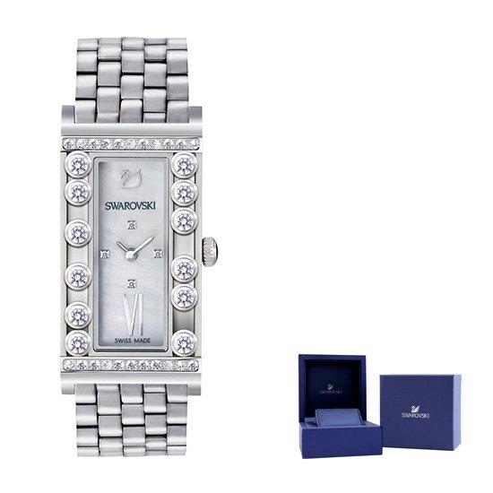 [오플]스와로브스키 러블리스퀘어 여성메탈시계
