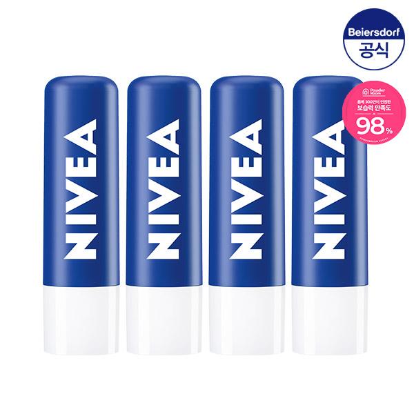 니베아 립케어 에센셜 케어 4.8g 4개