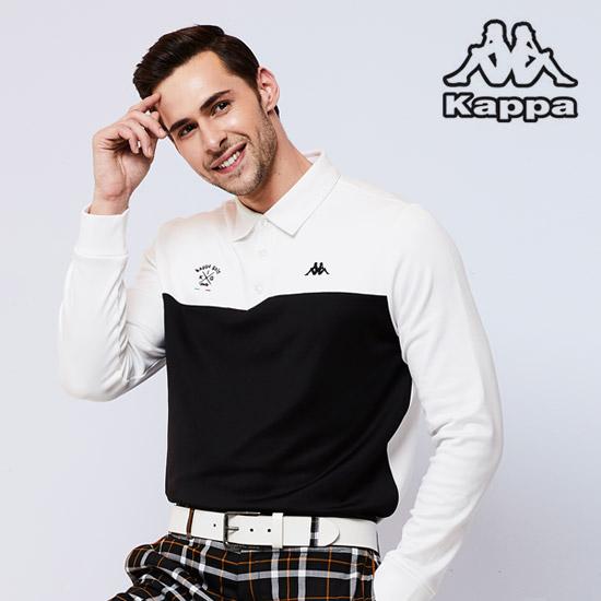 [카파]남성 기모 골프카라티셔츠 화이트