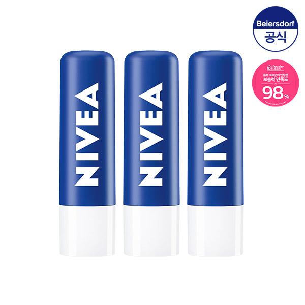 니베아 립케어 에센셜 케어 4.8g x3개