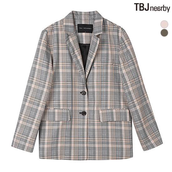 [TBJ]여성 체크 자켓(T191JP710P)