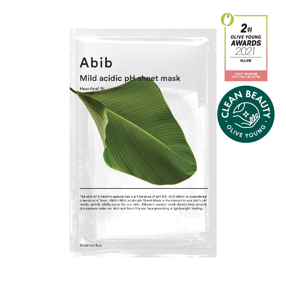 아비브 약산성 pH 시트 마스크 어성초 핏 1매