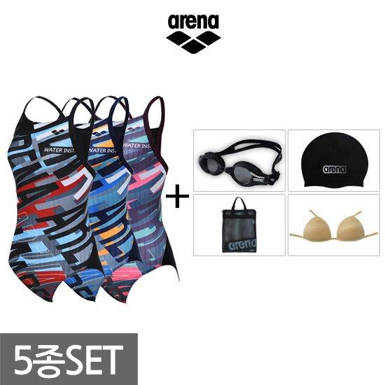 아레나 여성 원피스+용품 수영복세트 AUFCO34A60