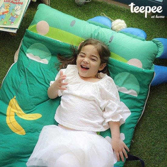 [티피] 안락하고 포근한 어린이 낮잠이불 일체형 세트공룡