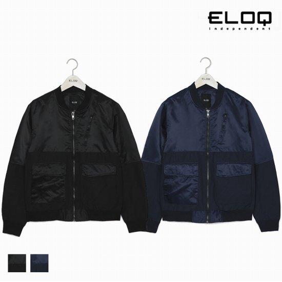 [ELOQ]남성 소재 믹스 빅 포켓 점퍼B172MJP123M