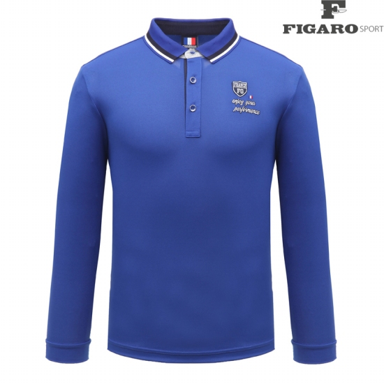 [피가로스포츠] 남성 카라 포인트 티셔츠 4F8STE050M_BL