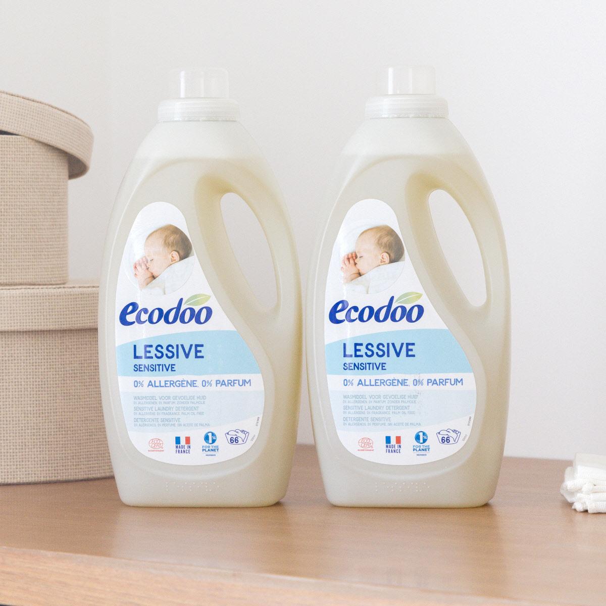 [에코두] 유아 액상 세탁세제 무향 1.5L x 2개