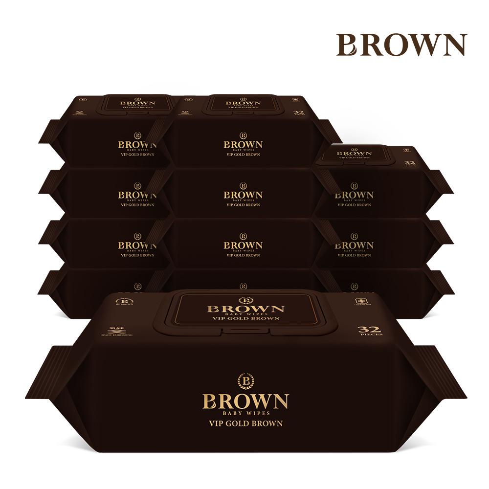 브라운 VIP 골드 브라운 아기물티슈 32매 라이트캡형 12팩