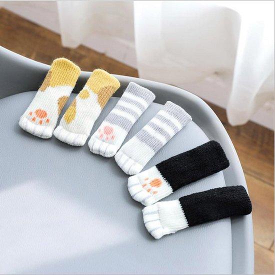 1+1 고양이발의자양말4P 식탁 의자 커버 발 다리 커버