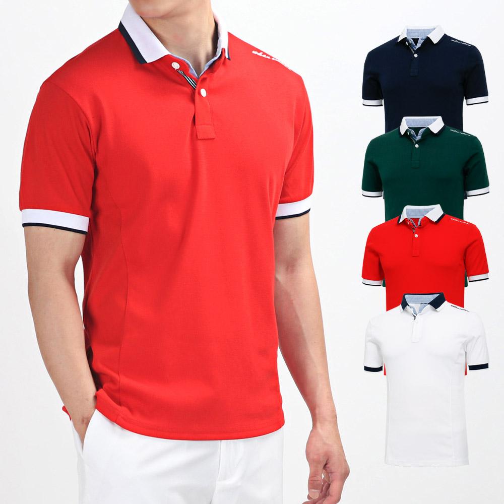 남성 골프웨어 골프티셔츠 카라 반팔 티셔츠 HTST017