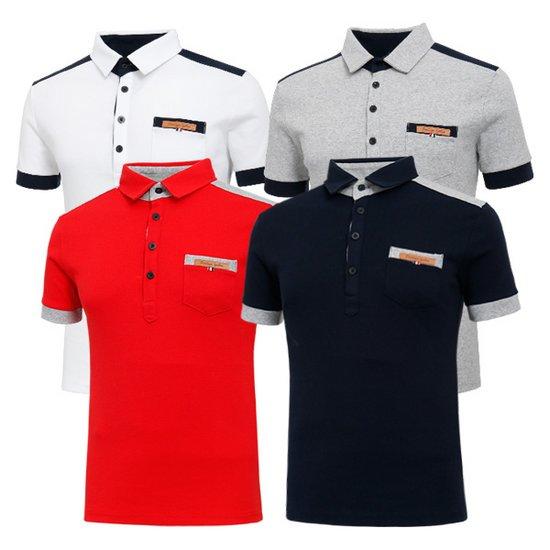 남성 골프웨어 골프티셔츠 카라 반팔 티셔츠 HTST013