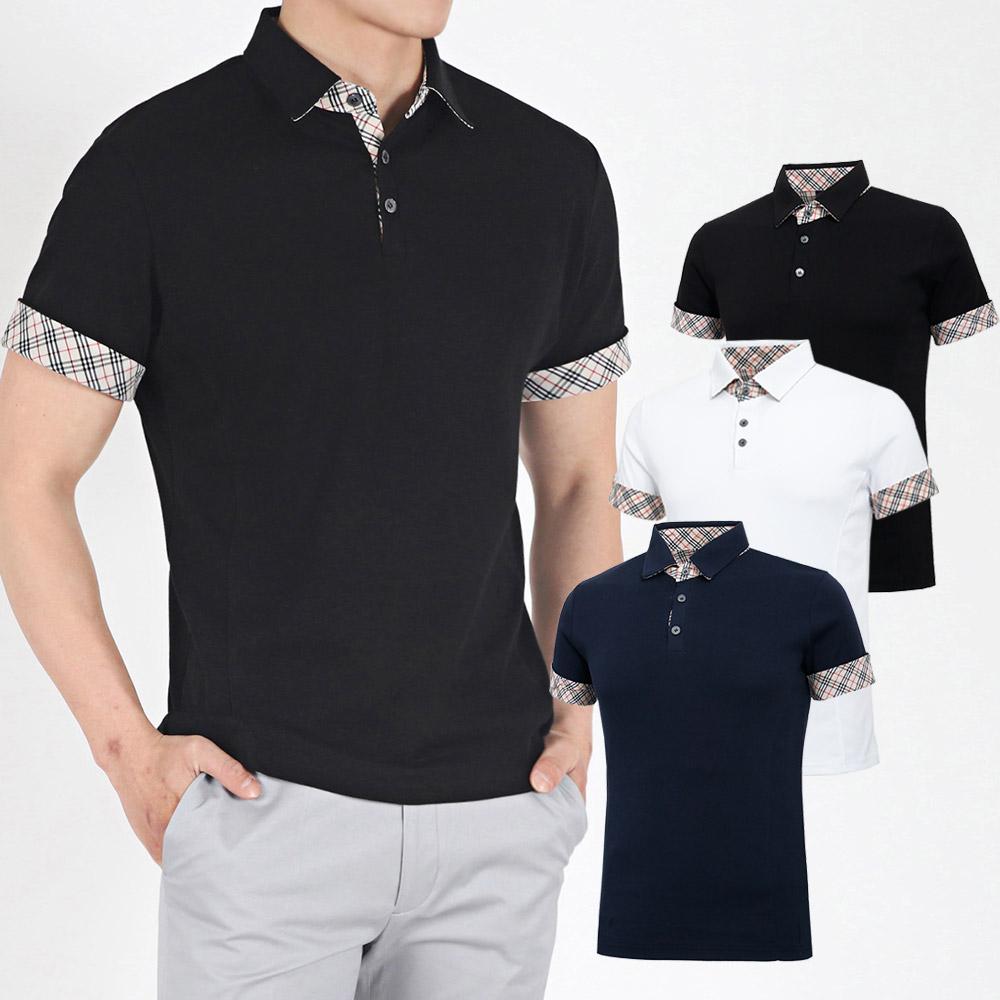 남성 골프웨어 골프티셔츠 카라 반팔 티셔츠 HTST006