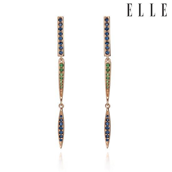 [엘르주얼리] 14k 유니크 드롭 귀걸이 gold pin ELGPEE030