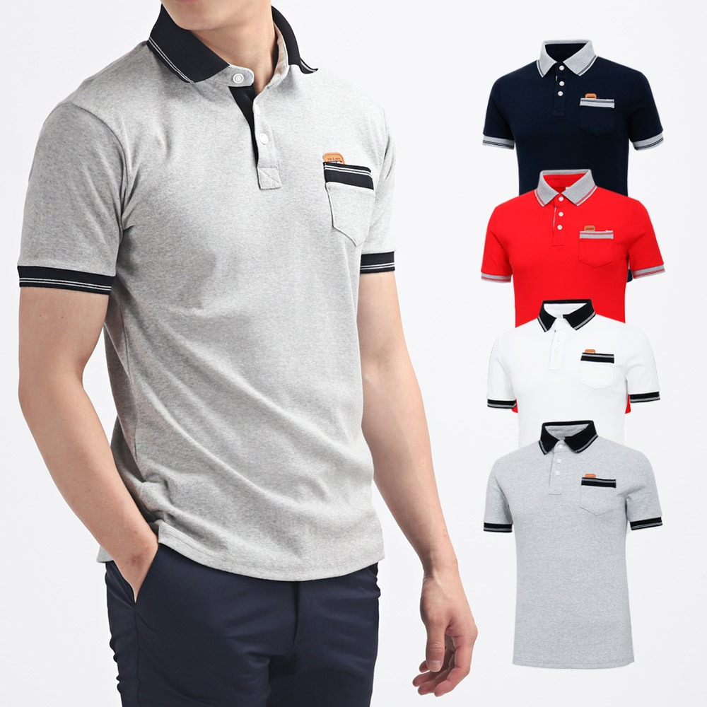 남성 골프웨어 골프티셔츠 카라 반팔 티셔츠 HTST004