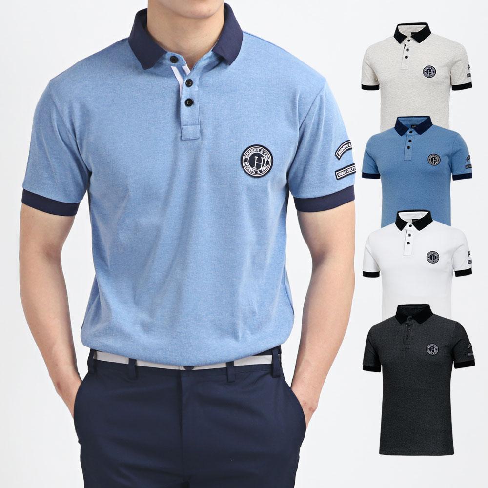 남성 골프웨어 골프티셔츠 카라 반팔 티셔츠 HTST001