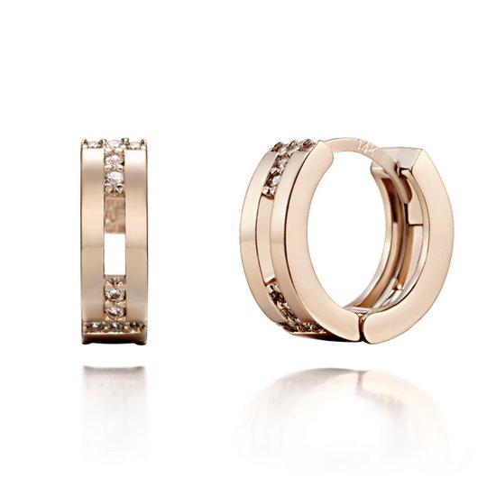 [끄란느] 14K T자 원터치 귀걸이 gold pin C24EGP055