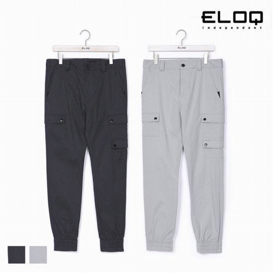 [ELOQ]남성 배기핏 포켓 포인트 조거 팬츠B172MPT124M