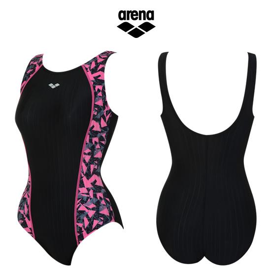 아레나 여성 일반 원피스 수영복 ATSLX03 BLK