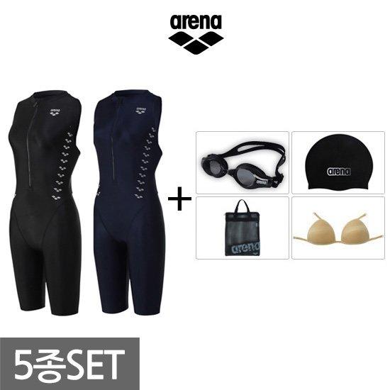 아레나 여성 반신+용품 수영복세트 AUFCE24A60