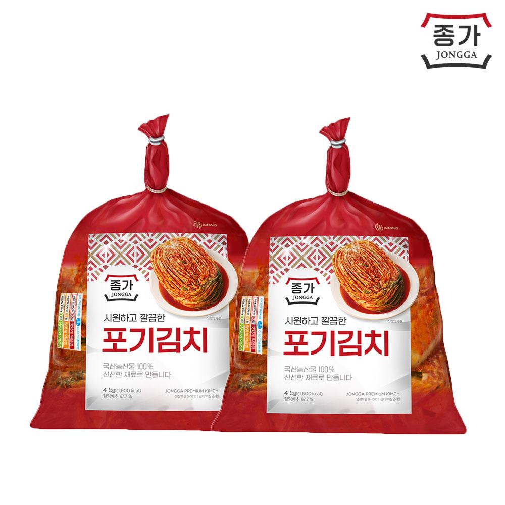 종가집 포기김치 4kgX2개+증정 총각김치500g