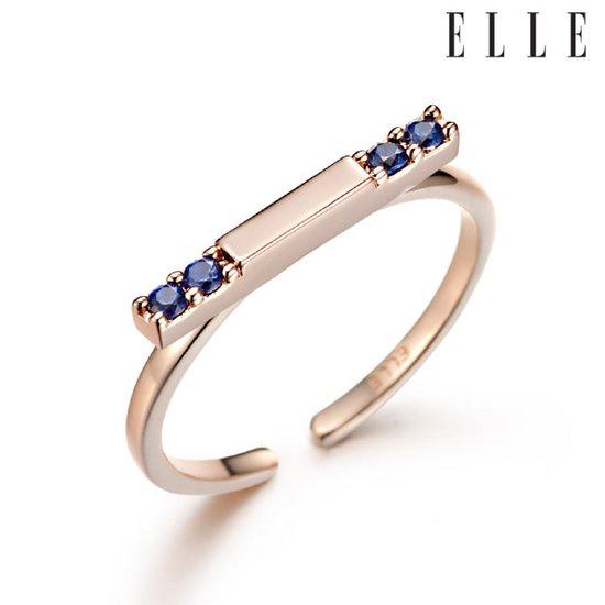 [엘르주얼리] 블루 포인트 반지 ELBRWR019