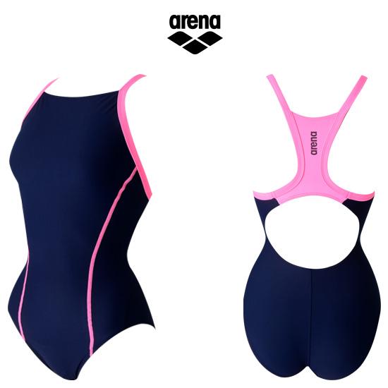 아레나 여성 선수 원피스 수영복연습복 ATBCL01 NVY