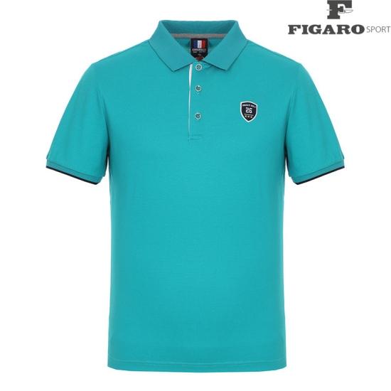 [피가로스포츠] 남성 소매 배색 포인트 카라 티셔츠 4F8MTS022M_TL