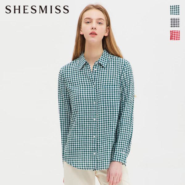 [쉬즈미스]깅엄체크 서커 셔츠_SWWSTJ11150
