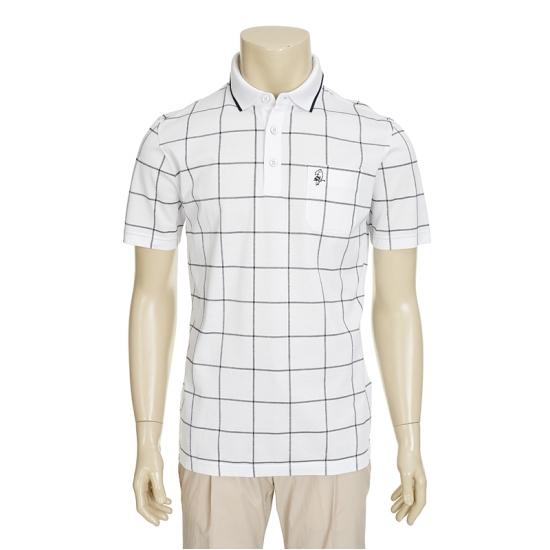 [마코] 남성 체크 패턴 카라 티셔츠 4MGM2TS17_10