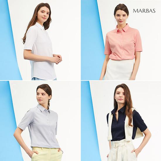 [오플]마르바스 여성 이지 매너셔츠 4종 컬렉션 19SS