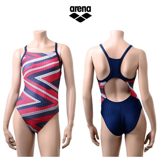 아레나 여성 일반 원피스 수영복 AUFLO32RED