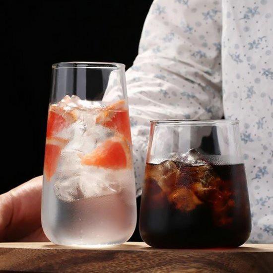 [인블룸] 북유럽스타일 심플 투명유리컵