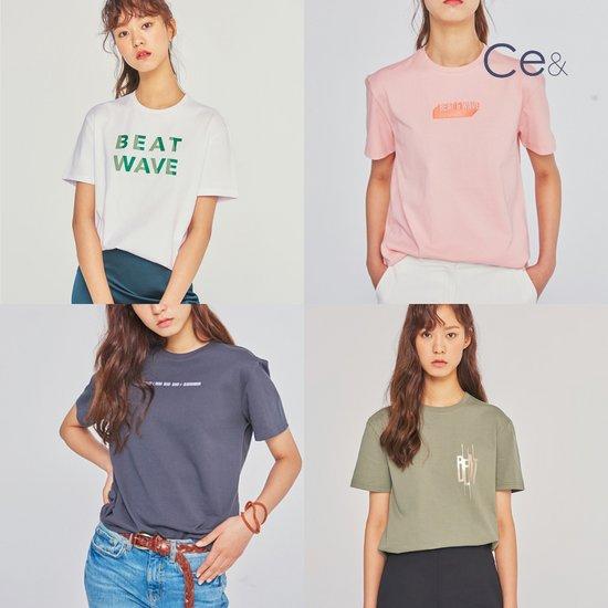 씨이앤 그래픽 여성 티셔츠